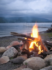 Fire and Lake