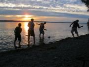 Skipping Stones on Seneca Lake