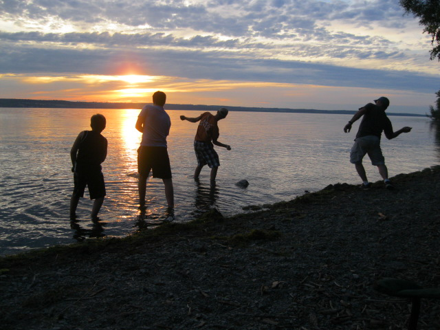 Skipping Stones on Seneca Lake