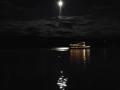 September Moon Over Seneca Lake