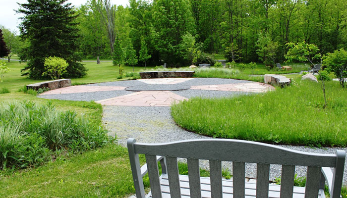 Serenity Garden. Courtesy Finger Lakes Community College
