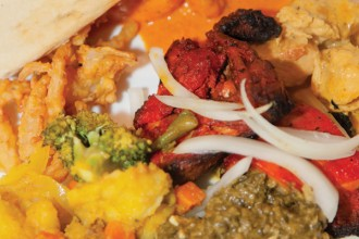 Flavors, the Indian restaurant on the tour in Canandaigua, offers many delightful dishes. Photo by Michele Kisly