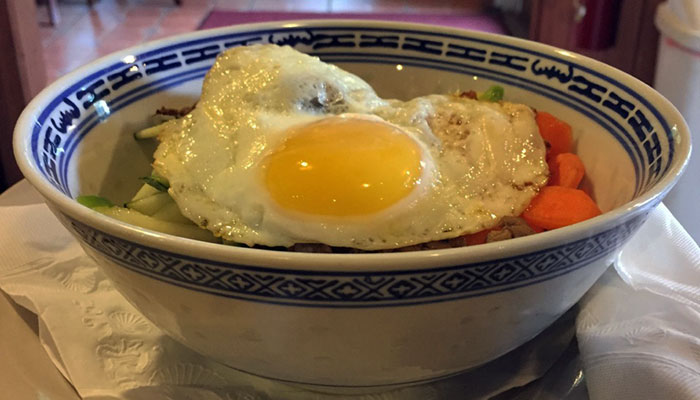 The Coal Yard Café's rice bowl.