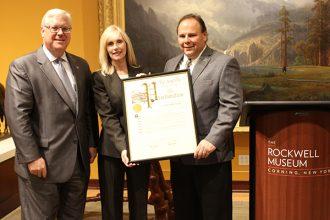 From Left: Senator Tom O'Mara, Deb Naylor, Rockwell Board President and Assemblyman Phil Palmesano