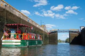 Locking along the canal