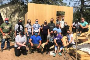 Chiropractic College Student Volunteers Help Build Homes with Habitat for Humanity
